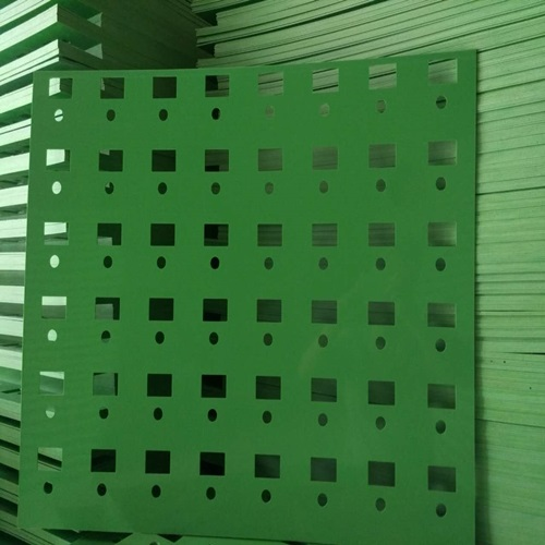 Green Perforated Plastic Sheet Uhmwpe